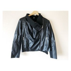 NWOT Small faux leather black jacket